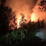 Erupciones frescas provenientes del volcán Kilauea en Hawaii