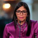 Vicepresidente de Venezuela Delcy Rodríguez, expulsado de la UE