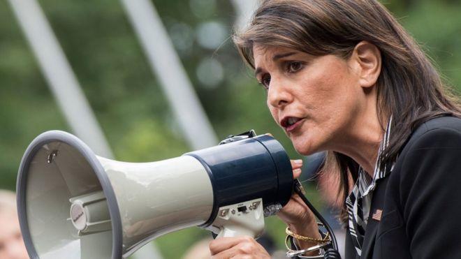 El mensaje prometedor de Nikki Haley ante la salida de Maduro en la ONU