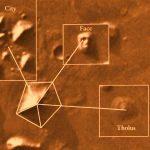 Pirámide de Marte el planeta Rojo