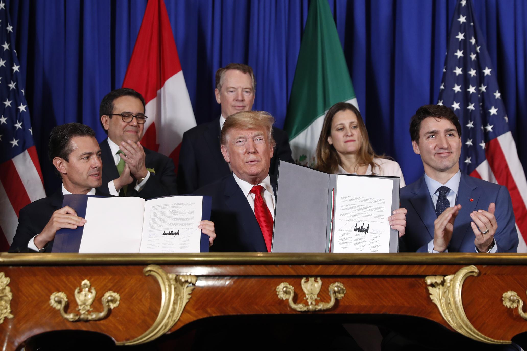 Estados Unidos, México y Canadá firman nuevo acuerdo comercial